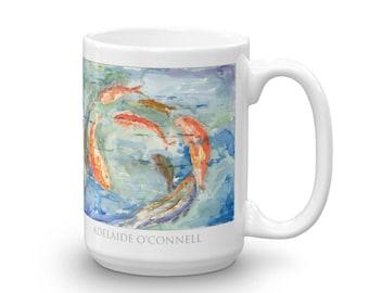 Circle Fish- By Adelaide O'Connel -- Ceramic Mug