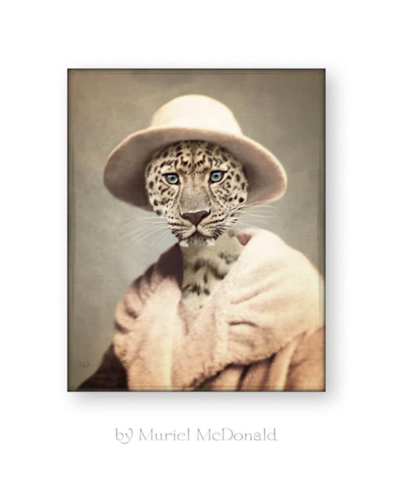 Leopard Art Print Animal Art Anthropomorphic Animals In image 0