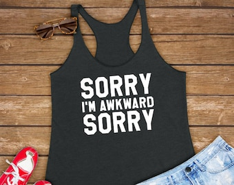 inspirational sayings Racerback Tank summer outfit baddie demi sorry not sorry birthday gift singer tank top music