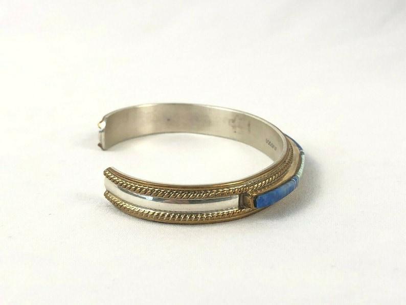 Navajo Native American Sterling 12k Channel Cuff Bracelet Estate Find 22.0 gr