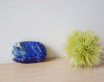 Vintage lapis lazzuli pebble, polished, irregular lapis lazzuli large  pebble, collectible, royal blue, mineral stone, mid eighties