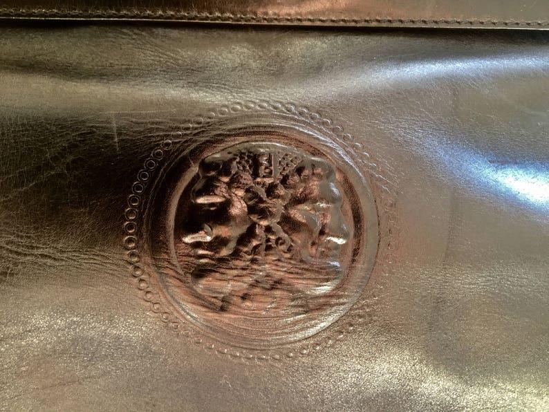 0b39e1f9a8 Vintage FENDI handbag classic Kelly style with Janus medaillon