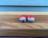 Aggie marble glass vintage toy game strand colored set marbles white Akro opaque swirl Vitro red green agate mint tricolor Christmas