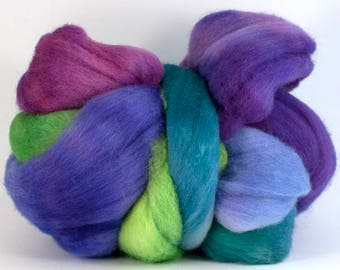 Superfine Shetland combed top 'Pretty as a Peacock'