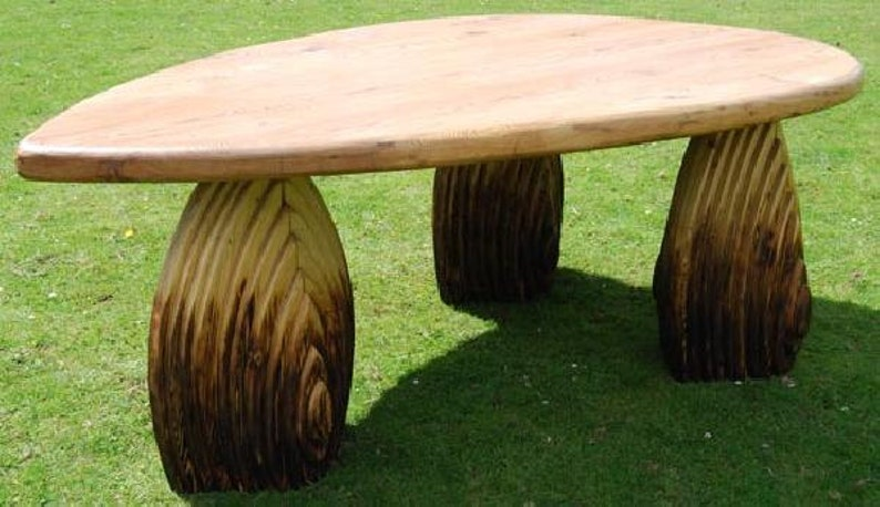 Unique hand crafted antique pitch pine dining table image 0