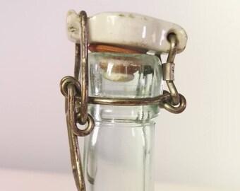 Vintage Danish beer bottle with ceramic cork Kolding Slotsmollen