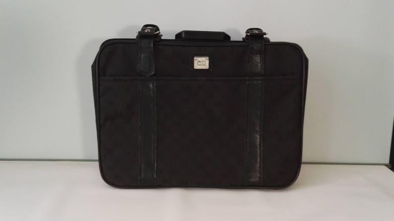 87ffaf3f03cb Vintage Black CD Christian Dior Monogram Travel Bag Suitcase