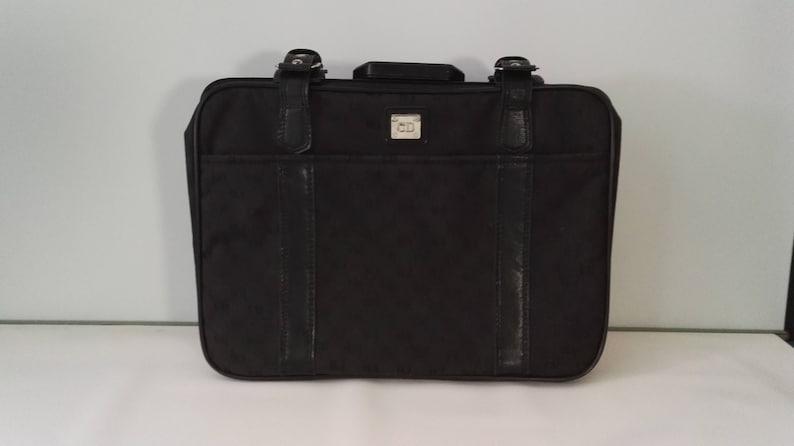 Vintage Black CD Christian Dior Monogram Travel Bag Suitcase  0052c4b4f5c4f