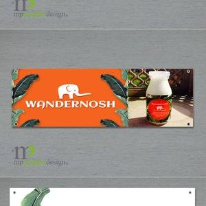 Trade Show 1 concept and 1Revision Flea Market or Tent Banner Custom IndoorOutdoor Banner Design