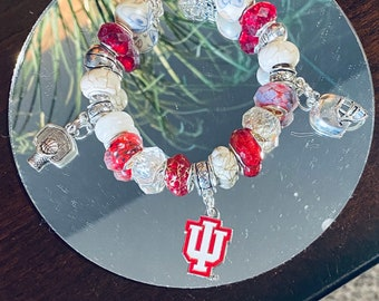 Indiana University Themed Charm Lockets