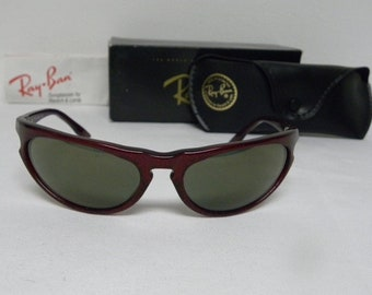 63707a5c0f New Vintage B L Ray Ban Sidestreet Skyline Wrap Red Gold Fleck G-15 Gold  Mirror W2353 Sunglasses nos