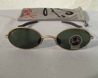 abd30a4f1b6 New Vintage B l Ray Ban Orbs 6 Base Oval Matte GoldG-15 XLT W2388 Aviator  Sunglasses usa