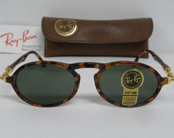 53ab264b4f399 New Vintage B L Ray Ban Gatsby Deluxe DLX 1 Oval Amber Gold Arista W1524  Sunglasses nos