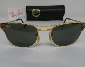 d9fa25f57d7 New Vintage B L Ray Ban Signet Gold Tortoise G-15 52mm Sunglasses usa