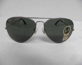 baff3a4b95 New Vintage B L Ray Ban Large Metal II Gunmetal G-15 W0880 62mm Aviator  Sunglasses USA