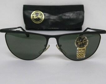 735a5b29e0 New Vintage B L Ray Ban Senova Alita Tea Cup Black W1764 NOS Sunglasses