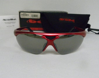 0bd48fab985bb New Vintage Bolle Vigilante Red Black Mirror 0752235512 Sunglasses France  NOS Sunglasses