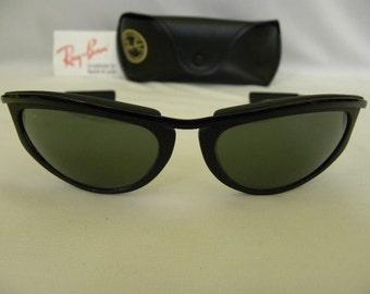 f8c4de8c2b3 ... official store new vintage bl ray ban olympian v black oval w1976  predator wrap sunglasses usa ...