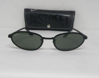 ray ban sidestreet matte black sunglasses
