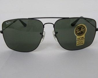 fdafaa7b01d New Vintage B L Ray Ban Classic Metals Explorer Black G-15 62mm W0503 Sunglasses  USA