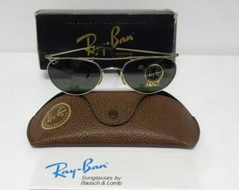 624283583a ... real new vintage bl ray ban new deco metals oval silver g 15 w1536  aviator sunglasses