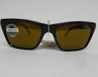 33c49e35285e New Vintage Bolle 528 Black Gold Mirror Spectra Acrylex Lens Sunglasses  France NOS Sunglasses