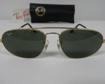 676fc927cf New Vintage B L Ray Ban Fashion Metal VI Gold G-15 W1597 Aviator Sunglasses  USA NOS
