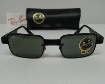 b98585338ad New Vintage B L Ray Ban Undercurrent 2 Metal Rectangle Black G-15 Grey  W2828 Sunglasses usa