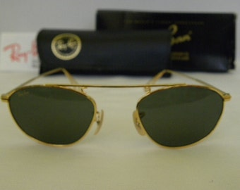 6577a59cd1 New Vintage B L Ray Ban Vintage Modified Aviator Gold W2003 Sunglasses NOS