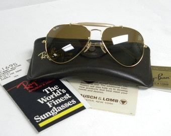 6bcbc07e92 New Vintage B L Ray Ban Outdoorsman Driving Arista B15 TGM Top Gradient  Mirror L1695 58mm Aviator Sunglasses USA
