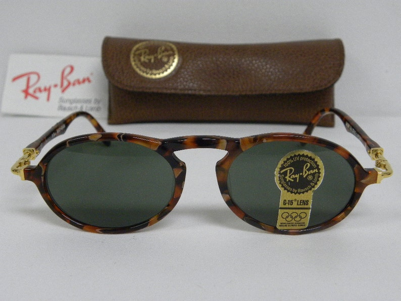 9df80cde1d New Vintage B L Ray Ban Gatsby Deluxe DLX 1 Oval Amber Gold
