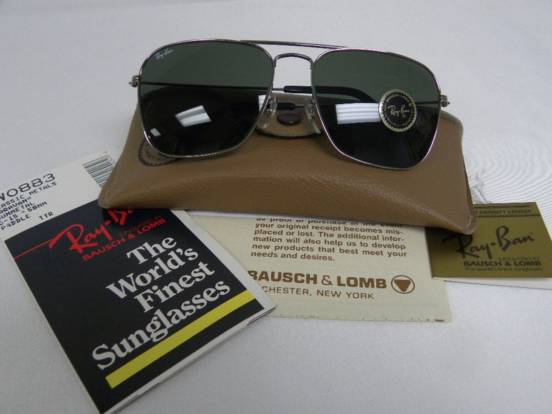 1d4c813765 Nuevo Vintage B & L Ray Ban Caravan W0883 G-15 Gunmetal 58 mm | Etsy