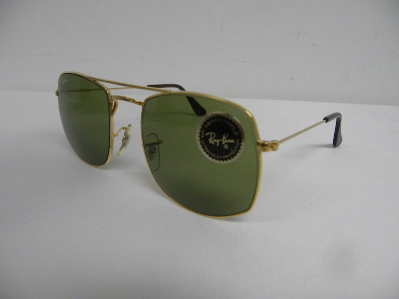 4de3f9dc2ce New Vintage B L Ray Ban Fashion Metals Style 4 Gold RB3 Green