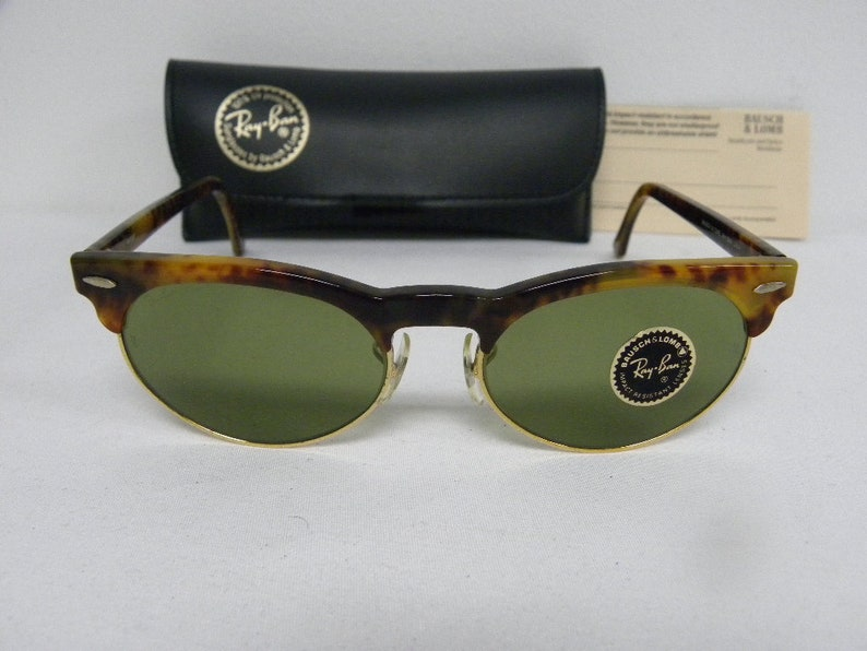 84d501286705 New Vintage B&L Ray Ban Oval Max Blonde Tortoise RB-3 Green | Etsy