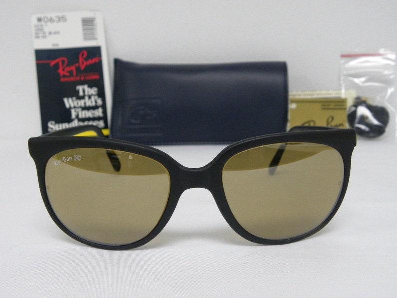 4c174608340 New Vintage B L Ray Ban Cats 1000 Matte Black RB-50 56mm W0635 50  Anniversary S... New Vintage B L Ray Ban Cats 1000 Matte Black RB-50 56mm  W0635 50 ...