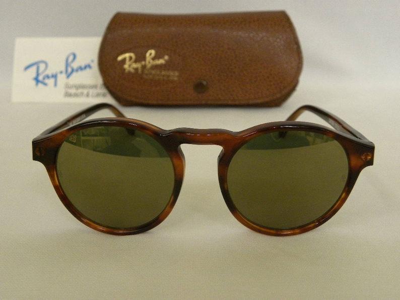 c1a01741985 New Vintage B L Ray Ban Gatsby Style 1 Round Mock Tortoise