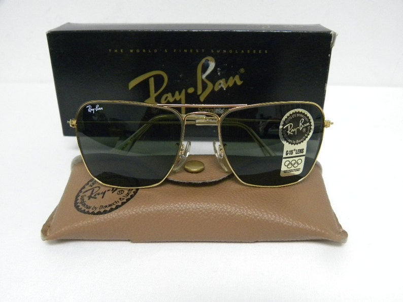 7b9a48c581 New Vintage B L Ray Ban Small Caravan 52mm Arista Gold G-15