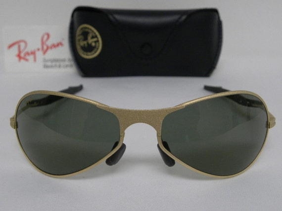 f73aedcce9b802 New Vintage B L Ray Ban Orbs Metal Deluxe Oval Aviator Matte