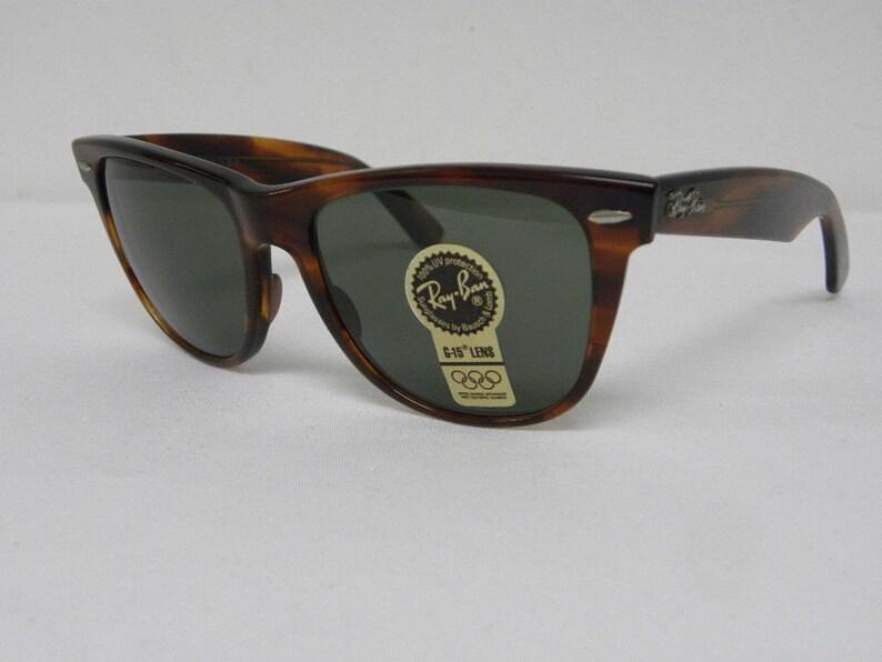4bfd96aa6 New Vintage B&L Ray Ban Wayfarer II Mock Tortoise G-15 54mm   Etsy