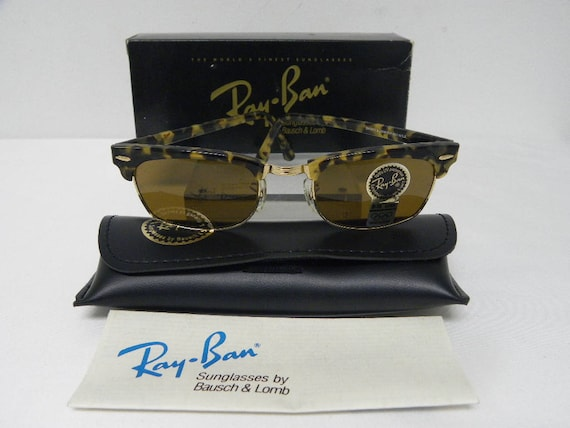 1f585c4ff0 ... top quality new vintage bl ray ban clubmaster square blonde tortoise  etsy 101c5 26b7c