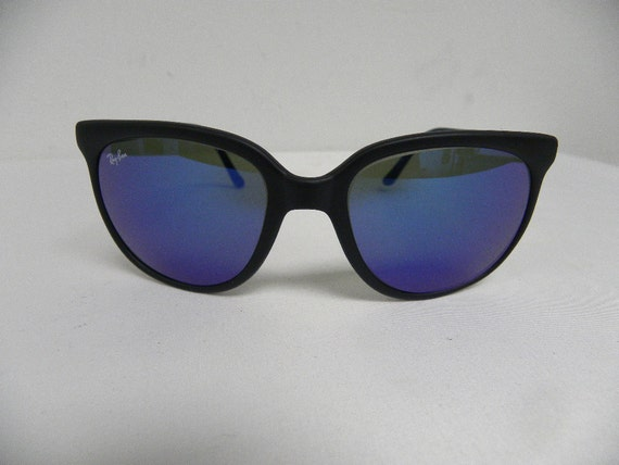 cb4ffe95a24 ... discount code for new vintage bl ray ban cats 1000 matte black g 15  blue mirror