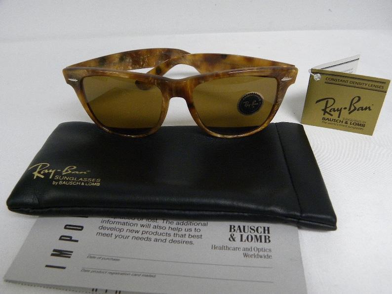 409f431a0f New Vintage B L Ray Ban Wayfarer II Limited Blonde Frost