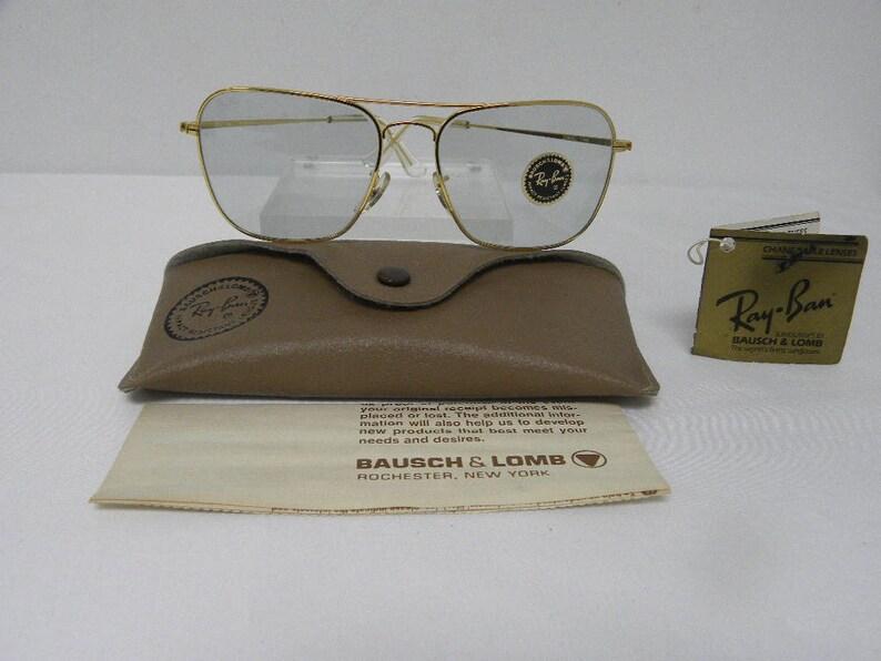 f31a9fab85 Nuevo Vintage B y L Ray Ban Caravan fotocromáticas oro | Etsy