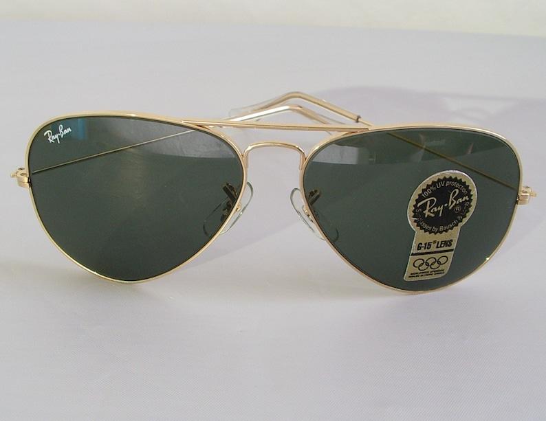 b7fa0967a6 New Vintage B L Ray Ban Large Metal II Gold G-15 L2846 62mm