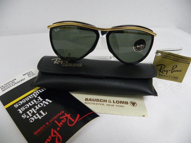 2113572d222 New Vintage B L Ray Ban Olympian Aviator Arista Gold Black