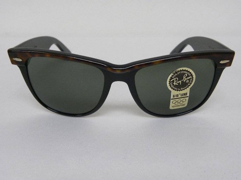 b3e4a5e562 New Vintage B L Ray Ban Wayfarer II Tortoise Ebony Black G-15