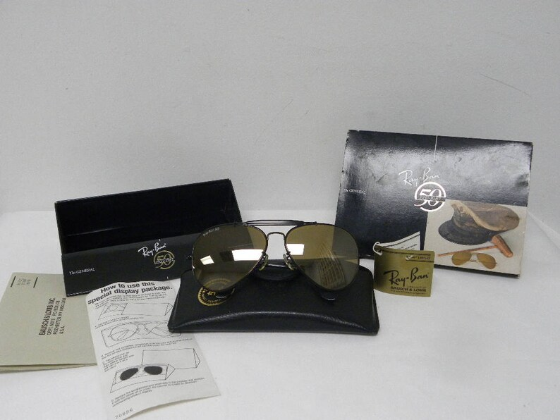 e56b8cd9606 New Vintage B L Ray Ban The General Black RB-50 50th