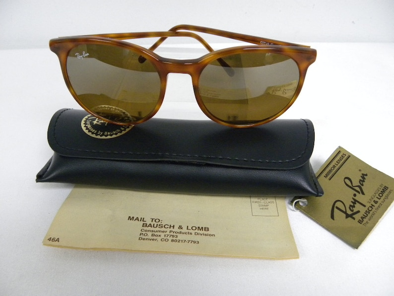 9d2400d28cd3f New Vintage B L Ray Ban Traditionals Style C Tortoise B15 TGM