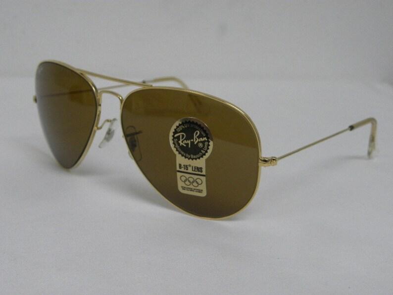 9db36a3f48 New Vintage B L Ray Ban Large Metal II Gold B-15 Brown 62mm