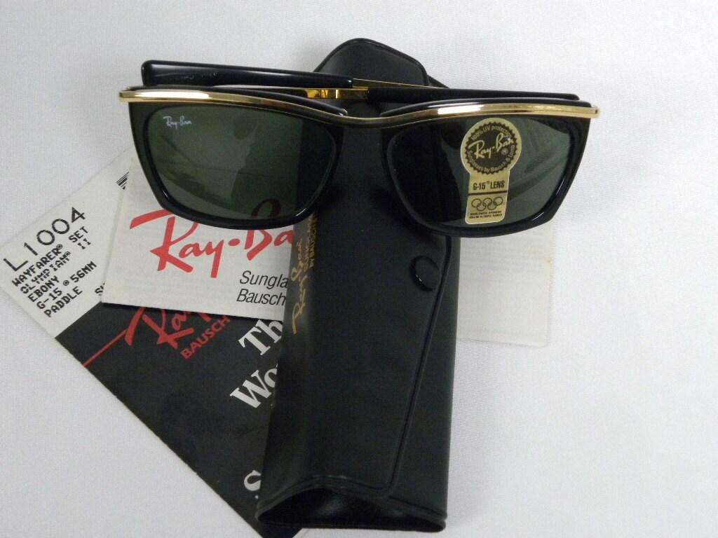 fa8c6bf58 New Vintage B&L Ray Ban Olympian II Black Ebony Wayfarer Set | Etsy